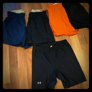 4 Soffee shorts & 1 compression shorts